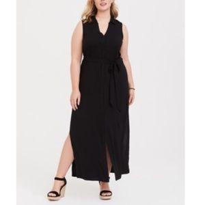 Torrid Black Maxi Shirt Dress